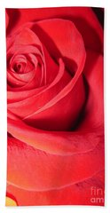 Luminous Red Rose 6 Bath Towel