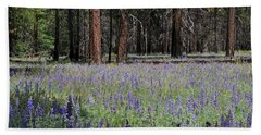 Bath Towel featuring the photograph Lupines In Yosemite Valley by Lynn Bauer