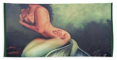 Lydia The Tattooed Mermaid Hand Towel