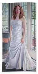 Lydia's Wedding Portrait Hand Towel