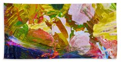 Hand Towel featuring the painting Intuitive Painting  267 by Joan Reese