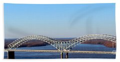 Hand Towel featuring the photograph M Bridge Memphis Tennessee by Barbara Chichester