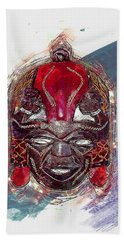 Maasai Mask - The Rain God Ngai Hand Towel