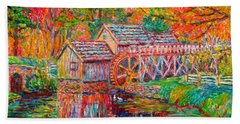 Mabry Mill In Fall Hand Towel
