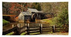 Bath Towel featuring the photograph Mabry Mill by Suzanne Stout