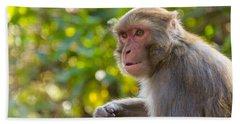 Macaque Monkey Bath Towel
