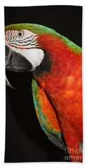 Hand Towel featuring the photograph Macaw Profile by John Telfer