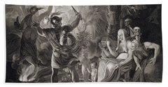 Macbeth, The Three Witches And Hecate Bath Towel