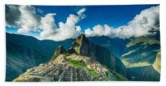 Machu Picchu Hand Towel by Ulrich Schade