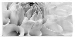 Macro Dahlia Flower Monochrome Hand Towel