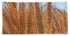 Bath Towel featuring the photograph Macro Of Wheat Art Prints by Valerie Garner