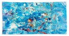 Macroseism Tsunami Bath Towel by Roberto Prusso