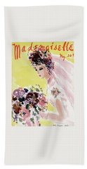 Mademoiselle Cover Featuring A Bride Bath Towel
