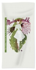 Mademoiselle Cover Featuring A Woman Carrying Hand Towel