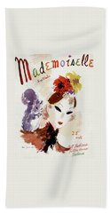 Mademoiselle Cover Featuring A Woman Bath Towel