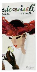 Mademoiselle Cover Featuring A Woman In A Red Hand Towel
