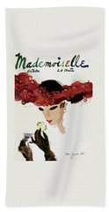 Mademoiselle Cover Featuring A Woman In A Red Bath Towel