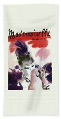 Mademoiselle Cover Featuring A Woman Looking Bath Towel