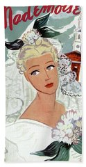 Mademoiselle Cover Featuring An Illustration Bath Towel