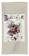 Mademoiselle Cover Featuring An Illustration Bath Towel by Helen Jameson Hall