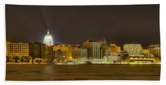 Madison - Wisconsin City  Panorama - No Fireworks Bath Towel