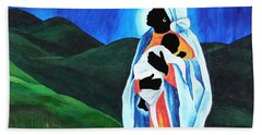 Madonna And Child  Hope For The World Hand Towel