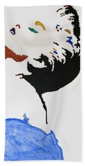 Madonna True Blue Bath Towel by Stormm Bradshaw