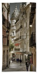Madrid Streets Hand Towel by Joan Carroll