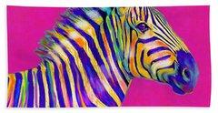 Magenta Zebra Hand Towel by Jane Schnetlage