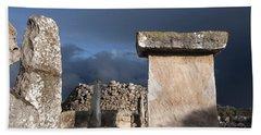 Bronze Edge In Minorca Called Talaiotic Age Unique At World - Magic Island 1 Hand Towel by Pedro Cardona