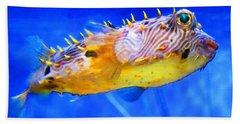 Magic Puffer - Fish Art By Sharon Cummings Hand Towel