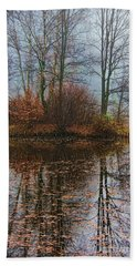 Magic Reflection Hand Towel by Mariola Bitner