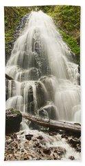Magical Falls - Fairy Falls In The Columbia River Gorge Area Of Oregon Hand Towel