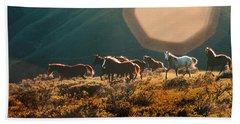 Magical Herd Hand Towel by Melinda Hughes-Berland