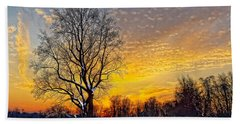 Magical Winter Sunset Hand Towel