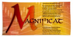 Magnificat Hand Towel by Chuck Mountain