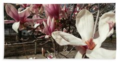 Bath Towel featuring the photograph Magnolia Branches by Caryl J Bohn