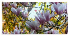 Hand Towel featuring the photograph Magnolia Maidens by Leanne Seymour