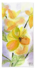 Hand Towel featuring the painting Magnolias Gentle by Kip DeVore