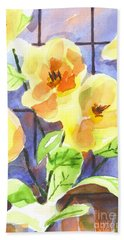 Hand Towel featuring the painting Magnolias by Kip DeVore