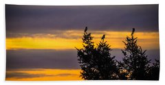 Magpies At Sunrise Hand Towel