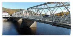 Main Street Bridge Shelbourne Falls  Hand Towel