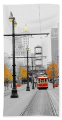 Main Street Trolley  Bath Towel
