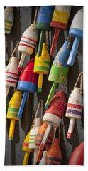 Maine Fishing Buoys Hand Towel