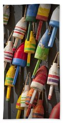 Maine Fishing Buoys Hand Towel