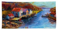 Maine Harbor Hand Towel