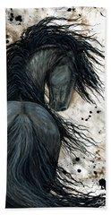 Majestic Friesian Horse 123 Bath Towel