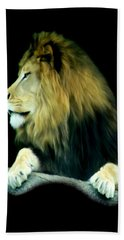 Hand Towel featuring the photograph Majestic King by Maria Urso