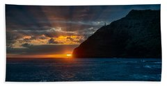 Makapuu Sunrise Hand Towel by Dan McManus