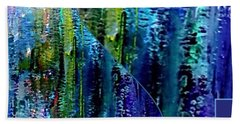 Bath Towel featuring the painting Make A Splash With Abstract  by Kimberlee Baxter